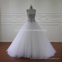 5852 sliver beading latest gown styles wedding dress factory