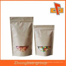 Guangdong zhongbao bolsa de alimentos reutilizables de material de papel kraft