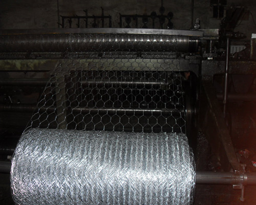 hexagonal wire mesh production