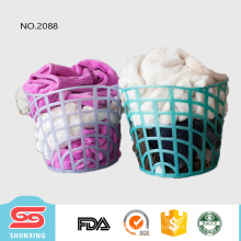 Plástico redondo da cesta de lavanderia do grande armazenamento do preço baixo para a roupa