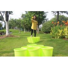 Pong de patio gigante con baldes y balones duraderos