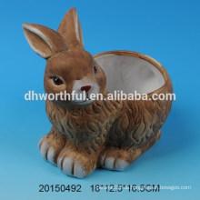 Keramik Blumentopf mit Kaninchen Design für Decro