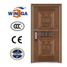 Hochwertige Sicherheit Eingang Stahl Kupfer Tür (W-ST-02)