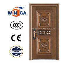 Entrée de sécurité de haute qualité Porte cuivre en acier (W-ST-02)