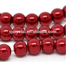 Wholesale Factory price loose Crystal Glass Imitation Pearls beads