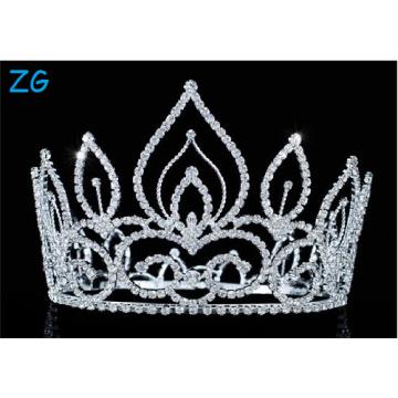 La boda del Rhinestone de la alta calidad coronó las coronas cristalinas de las muchachas de las tiaras