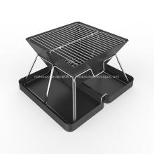 Parrilla de barbacoa de carbón plegable y compacta
