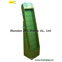 Cardboard Hooks Display, Corrugated Display, Paper Display Stand, Cardboard Floor Display, Hook POS Display, Pegboard Display (B&C-B031)