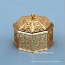 Ретро дизайн Пользовательские Металл Ювелирные изделия Box Оптовая, Античный Металл Шкатулка для драгоценностей