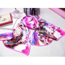 Китай завод леди мода многоцветный цифровой печать шелковый шарф