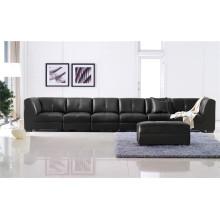 Sofá eléctrico del reclinable del sofá del cuero de la calesa del cuero genuino (895)