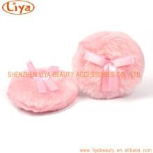Venda por atacado Cute rosa pelúcia cosmético sopro ferramenta de fazer