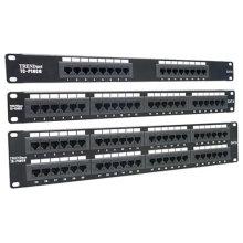 Ampli de réseau cat6 cat5e 12 24 panneau de raccordement 48 ports 8p8c type de montage en rack type snap-in