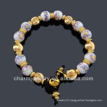 Hand Crafted Vintage Style Porcelain Beads Bracelet Vners BC-001
