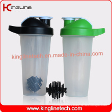 Eco friendly 700ml plastic custom protein bottle plastic ball wholesalers (kl-7033B)
