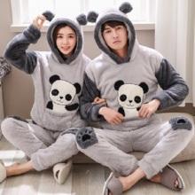 Серая пижама с принтом панды