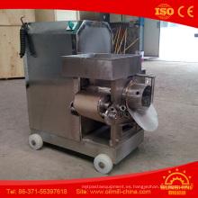 Separador de huesos de carne de pescado de máquina de carne deshuesada