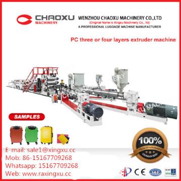 PC drei oder vier Schicht Doppelschneckenextruder Maschine für Kunststoff