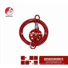Wenzhou BAODSAFE BDS-L8631 Bloqueio do cabo da roda ajustável vermelho Etiqueta de bloqueio de segurança