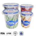 leak proof lock and seal bpa free stackable food container