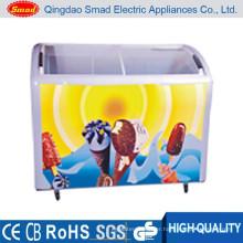 ice cream showcase display refrigerator glass slide top freezers