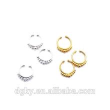Moda corpo piercing jóias indian nariz septum piercing anéis