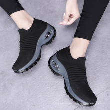 Explosion style large size air cushion fly woven sneaker overshoes fashion casual shoes socks