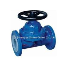 Type de Weir de valve de diaphragme rayé par PFA pour le produit chimique