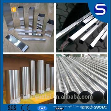 Tube en acier inoxydable 304 316 / tube carré