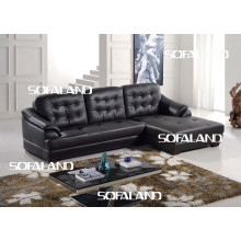 Leather Sofa with Chaise (759#)