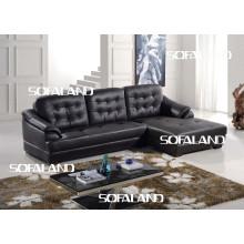 Кожаный диван с шезлонгом (759 #)