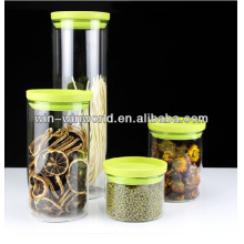 Borosilicate Colored Glass Spice Jars Jar With Plastic Lid
