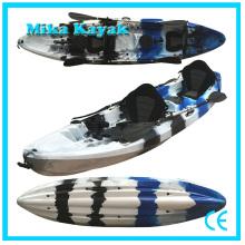 Canoa de plástico de 3 personas sentarse en el precio del barco de pesca kayak