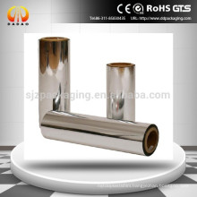 metallized PET film for gold and silver cardboard