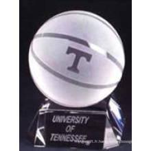 Basketball en cristal pour la décoration ou les cadeaux de table