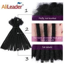 100% cabelo humano tranças dreadlocks tranças para cabelo extensão de cabelo