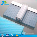 Alibaba china supplier U locking-design structure polycarbonate shape system sheet