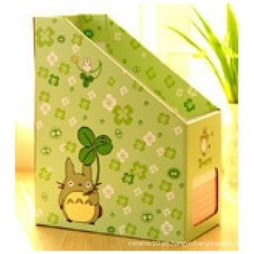 Cajas de Escritorio Homeware, Caja de almacenamiento de archivo de papel de estantería para Oficina