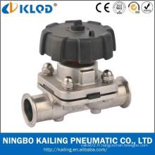 Pince sanitaire valve à membrane en acier inoxydable KLGMF-20M