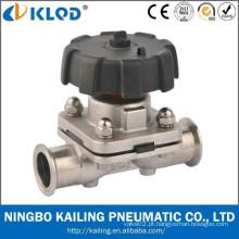 Válvula sanitária de diafragma de aço inoxidável KLGMF-20M