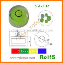 circular level vial