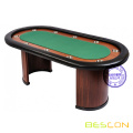 Classic 10 Person Casino Poker Table with Arc Leg