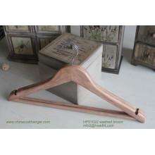 Дешевые деревянные вешалка, вешалка деревянная футболка, популярная вешалка