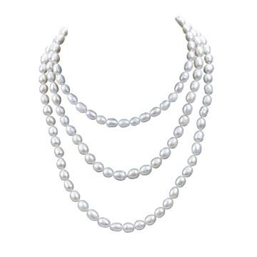 60inches длиннее естественное реальное ожерелье перлы женщин пресноводное