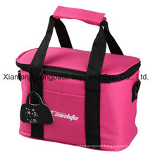 Promotional Hot Pink 600d Polyester Insulated Lunch Cooler Bag