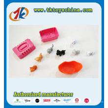 Милые Пластиковые мини-животных Кот и собака игра игрушка для детей