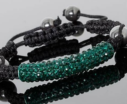 Weaved Shamballa Tube Bracelet
