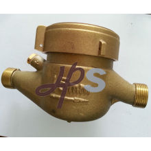 Brass water meter body for multi jet meter