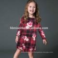 Nouveau style manches longues robe de Noël même vêtements pour la mère et la fille
