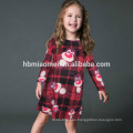 New Style Long Sleeve Christmas Dress Same Clothes For Mother And Daughter
